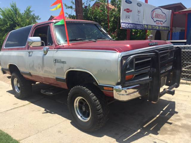 1989 Dodge Ramcharger 4x4 5.9 V8 Automatic For Sale in ...