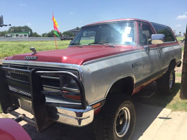 Craigslist Houston Tx Gmc Parts For Pinterest: 1989 Dodge Ramcharger 4x4 5.9 V8 Automatic For Sale In