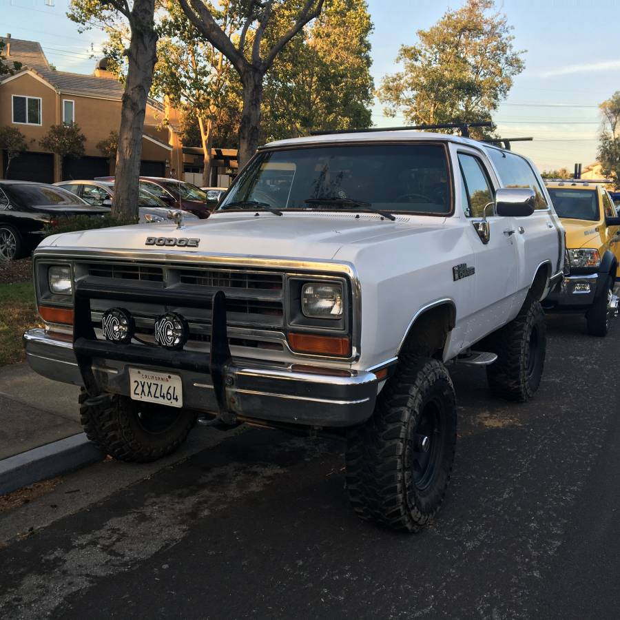 1991 dodge ramcharger 360 v8 automatic for sale in san carlos ca. Black Bedroom Furniture Sets. Home Design Ideas