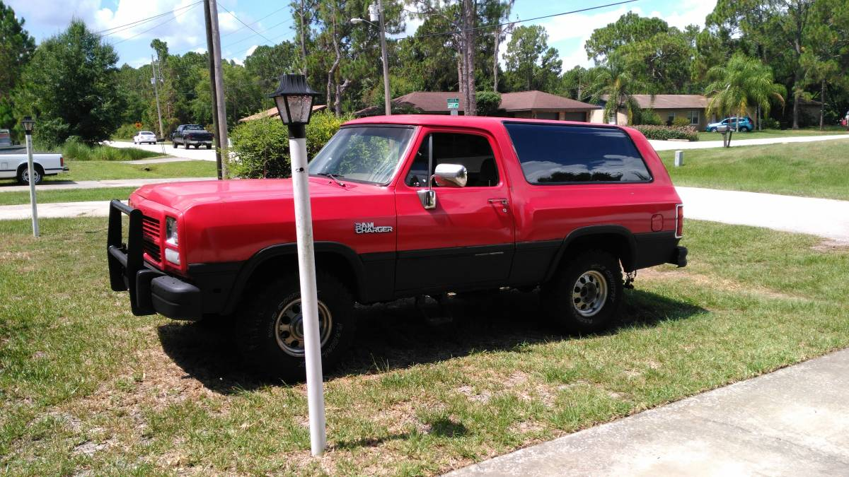 1992 Dodge Ramcharger 318 V8 Auto For Sale in Florida ...