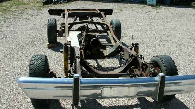 1978 Dodge Ramcharger Rolling Chassis w/ Dana 60 Rear Axle ...