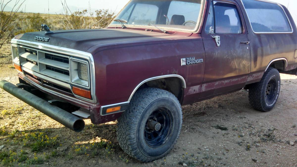 1988 Dodge Ramcharger 100 4X4 For Sale in Alpine, Texas - $1K