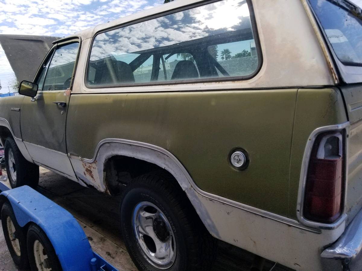 1974 Dodge Ramcharger Green Project For Sale in Apache ...