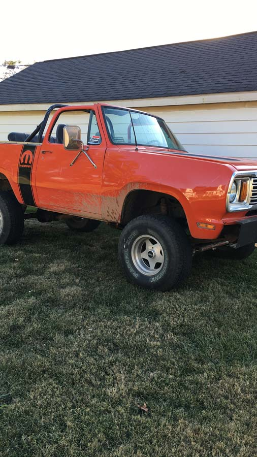 1978 Dodge Ramcharger 4spd Manual For Sale in Charleston, IL